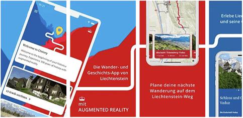 Screenshots der App LIstory im App Store